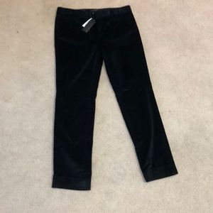 Banana Republic Black Velvet Sloan pants
